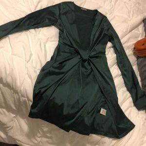 Satin fashion nova dress